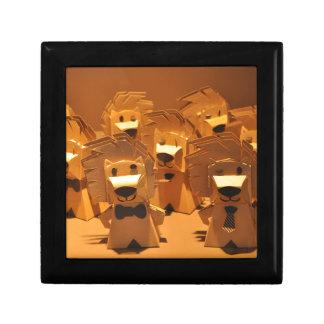 Cute merlion small square gift box