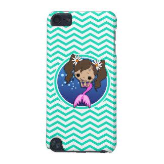 Cute Mermaid Aqua Green Chevron iPod Touch 5G Case