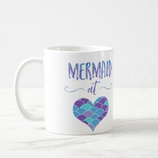 Cute Mermaid at Heart Coffee Mug