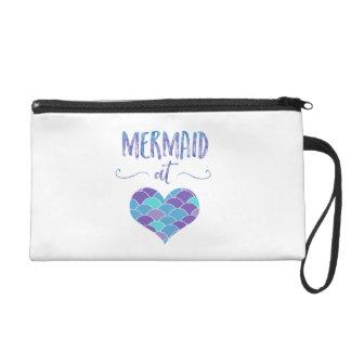 Cute Mermaid at Heart Women's Clutch/Makeup Bag Wristlet Purse