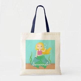 Cute Mermaid from the Ocean, For Girls Tote Bag