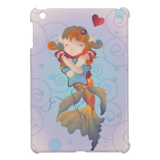 Cute Mermaid Hugging a Pillow Case For The iPad Mini