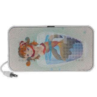 Cute Mermaid in a Glass Speakers
