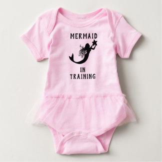 Cute Mermaid In Training Baby Bodysuit