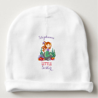 Cute Mermaid Little Sister Baby Beanie