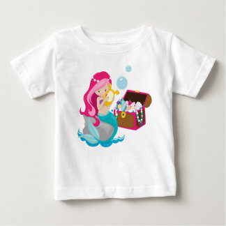 Cute Mermaid, mermaid Baby T-Shirt