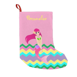 Cute Mermaid Small Christmas Stocking