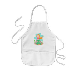 Cute Mermaid under the sea Girls Apron