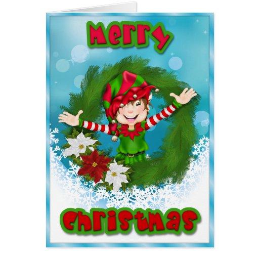 Cute Merry Christmas ELF Card