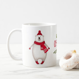 Cute Merry Christmas Polar Bear Coffee Mug