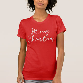 Cute Merry Christmas Red Shirts