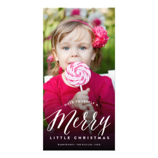 Cute Merry Little Christmas Fun Holiday Photo Card