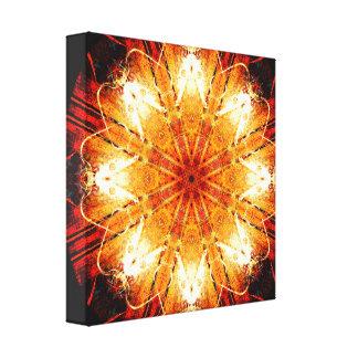 Cute Metaphysical Beings Mandala Canvas Print