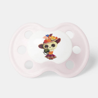 Cute Mexican Day of The Dead Girl Pacifiers
