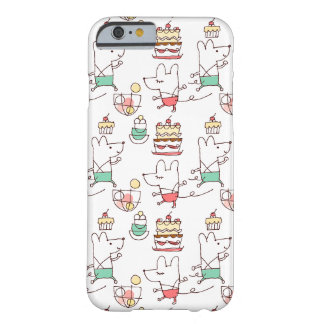 Cute Mice Bakery Chef Drawing Pattern Barely There iPhone 6 Case
