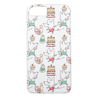 Cute Mice Bakery Chef Drawing Pattern iPhone 7 Case