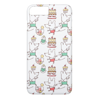 Cute Mice Bakery Chef Drawing Pattern iPhone 7 Plus Case