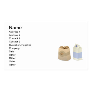 Cute Milk and Cookies Pack Of Standard Business Cards