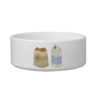 Cute Milk and Cookies Pet Water Bowl