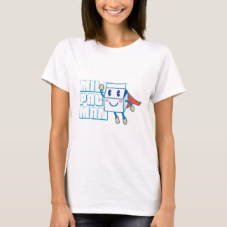 Cute Milk Pack Man Graphic T-shirt