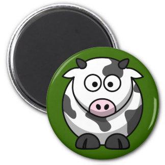 Cute Milking Cow On Green Grass Fridge Magnet