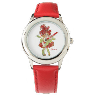 Cute Milkweed Flower Child Floral Little Girl Watch