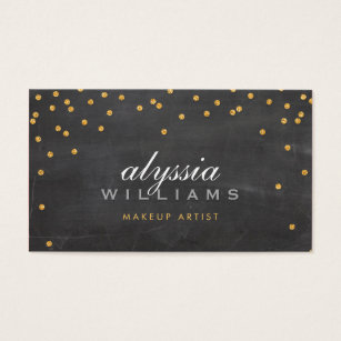 Sophisticated business cards business card printing zazzle cute mini confetti gold sparkly glitter chalkboard business card colourmoves