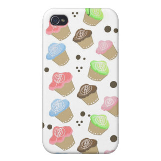 Cute Mini Cupcakes Cover For iPhone 4
