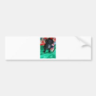 """Cute Mini Dachsund Puppie """"Anchor"""" Bumper Sticker"""