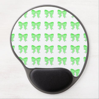 Cute Mint Bow Gel Mouse Pad