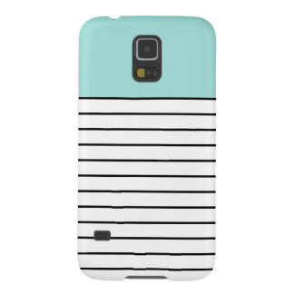 Cute Mint Green Black Stripes Galaxy S5 Case