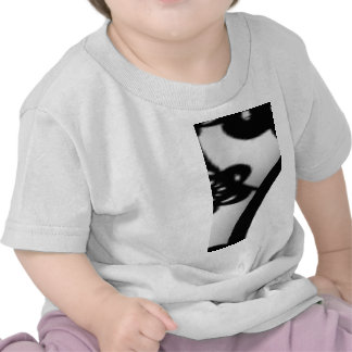 Cute Mod Black Flowers Pattern, Your Initial T-shirt