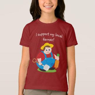 Cute modern cartoon of a proud farmer, T-Shirt