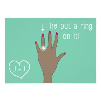 Cute Modern Engagement Announcements