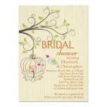 "Cute Modern Love Birds Bridal Shower Invitations 5"" X 7"" Invitation Card"