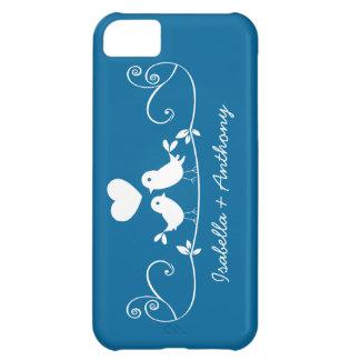 Cute Modern Love birds iPhone 5 Case