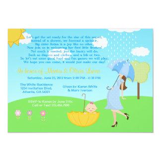 Cute Modern Mom and Baby Boy Baby Sprinkle 13 Cm X 18 Cm Invitation Card