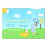 Cute Modern Mum and Baby Boy Baby Sprinkle Custom Invitations