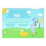 Cute Modern Mum and Baby Boy Baby Sprinkle Personalised Invites