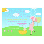 Cute Modern Mum and Baby Girl Baby Sprinkle 13 Cm X 18 Cm Invitation Card