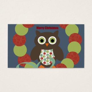 Cute Modern Owl Wreath Merry Christmas Gifts