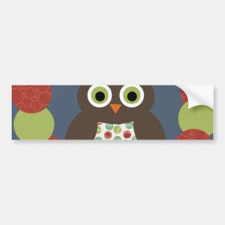 Cute Modern Owl Wreath Merry Christmas Gifts Bumper Sticker