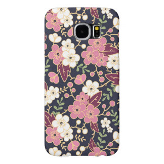 Cute Modern Spring Flower Pattern Girly Floral Samsung Galaxy S6 Cases
