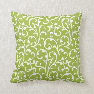 Cute Modern Swirls Pattern New Baby Lime Green Cushions