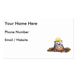 Cute Mole Digging Cartoon Pack Of Standard Business Cards