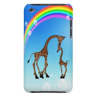Cute Mom & Baby Giraffe & Rainbow iPod Touch Case-Mate Case