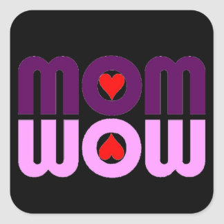 Cute Mom reflection with hearts Square Sticker