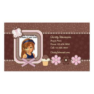 Cute Mommy Calling Card pocket calendar 2011 Business Card Templates