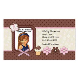 Cute Mommy Calling Card pocket calendar 2011 Business Card Template