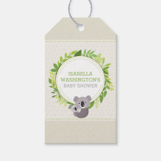 Cute Mommy Koala & Baby Koala Baby Shower Gift Tags